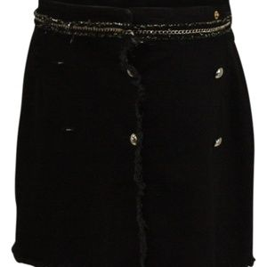 Guess Wilma Denim Mini Skirt Parisian Black